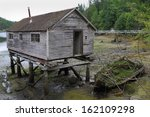 pender harbour net shed ... | Shutterstock . vector #162109298