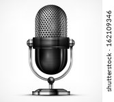 metallic microphone isolated on ... | Shutterstock .eps vector #162109346
