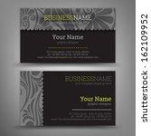 business card set. vector... | Shutterstock .eps vector #162109952