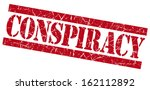 conspiracy grunge red stamp | Shutterstock . vector #162112892