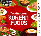 korean food  cuisine restaurant ... | Shutterstock .eps vector #1621150915