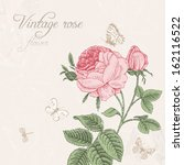 vintage vector background with... | Shutterstock .eps vector #162116522