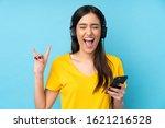 young brunette woman over... | Shutterstock . vector #1621216528