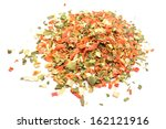 Dried Vegetables Isolated On...