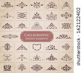 calligraphic design elements  ... | Shutterstock .eps vector #162122402