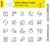editable icons of help and... | Shutterstock .eps vector #1621238668