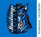 mustangs baseball team design...   Shutterstock .eps vector #1621284385