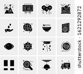 business icon set. 16 universal ... | Shutterstock .eps vector #1621292872