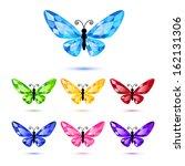 Set Of Diamond Butterflies...