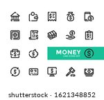 money line icons set. modern... | Shutterstock .eps vector #1621348852