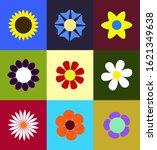 cute nine primaveral colorfull...   Shutterstock .eps vector #1621349638