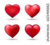 hearts shapes love balloons.... | Shutterstock .eps vector #1621406062