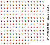 world flag collection | Shutterstock . vector #162141158