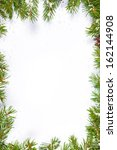 christmas background with snow  ... | Shutterstock . vector #162144908