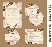 set of vintage floral wedding... | Shutterstock .eps vector #162146552