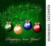2014   vector christmas tree...   Shutterstock .eps vector #162146936