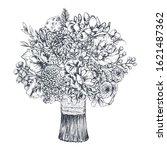 floral composition. bradal... | Shutterstock .eps vector #1621487362