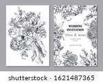 set of two banners with... | Shutterstock .eps vector #1621487365