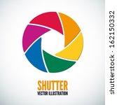 colorful camera shutter. vector ... | Shutterstock .eps vector #162150332