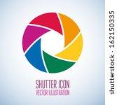 colorful camera shutter. vector ... | Shutterstock .eps vector #162150335