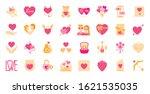 valentines day flat cartoon...   Shutterstock .eps vector #1621535035