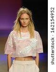new york   september 10  model... | Shutterstock . vector #162154952