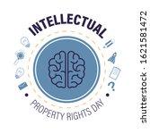 copyright or intellectual... | Shutterstock .eps vector #1621581472