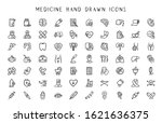 medicine and hynecology line... | Shutterstock .eps vector #1621636375