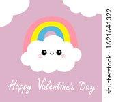 happy valentines day. cloud...   Shutterstock .eps vector #1621641322