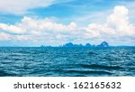 landscape with sea and clouds ... | Shutterstock . vector #162165632