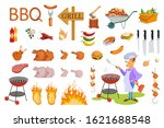 set of barbecue and grill....   Shutterstock .eps vector #1621688548