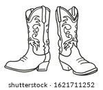 Cowboy Boots. Vector Graphic...