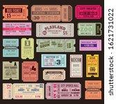 cinema or theater ticket set....   Shutterstock .eps vector #1621731022