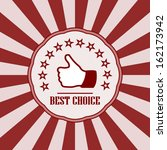 best choice vintage badge retro ... | Shutterstock .eps vector #162173942