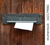 Letter Box With Envelope On...