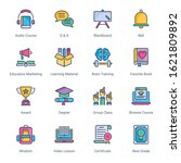 education filled line icons  ...