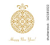 golden vector christmas and new ... | Shutterstock .eps vector #162181022