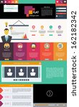 flat design web elements  ...