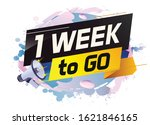 1 week to go word concept...