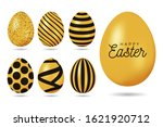 Gold Easter Egg. Happy Easter ...