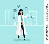 female scientist in lab... | Shutterstock .eps vector #1621928452