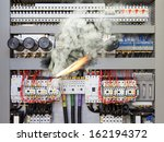 overloaded electrical circuit... | Shutterstock . vector #162194372