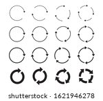 set of black circle arrows.... | Shutterstock .eps vector #1621946278