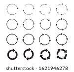 set of black circle arrows.... | Shutterstock .eps vector #1621946278