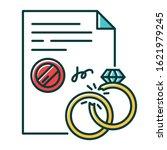 divorce rgb color icon. formal... | Shutterstock .eps vector #1621979245
