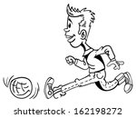 black and white cartoon... | Shutterstock .eps vector #162198272