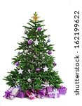 Decorated  Christmas Tree  Wit...