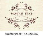 elegant texts frame. | Shutterstock .eps vector #16220086