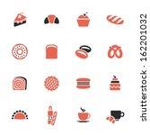 bakery icon set | Shutterstock .eps vector #162201032