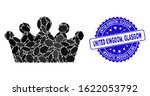 mosaic crown icon and... | Shutterstock .eps vector #1622053792